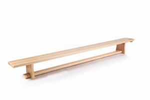 Скамейка гимнастическая 2,4м с деревянными ножками 101231
