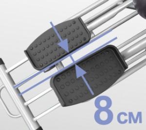 Расстояние между педалями 8 см