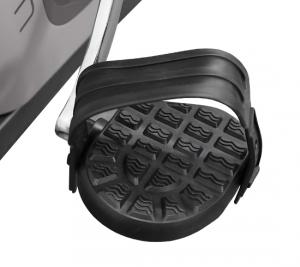 Рифленые антискользящие педали с прорезиненными многопозиционными ремешками