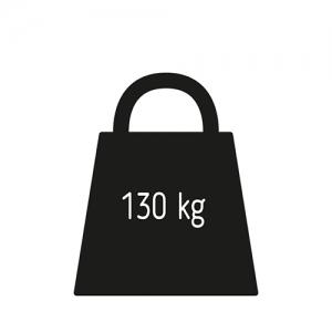 Максимальный вес пользователя 130 кг