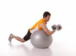 Гимнастический мяч повышенной прочности 55см 97403FL красный Flexter