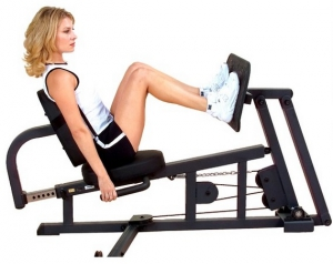 Жим ногами горизонтальный опция GLP Body-Solid