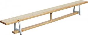 Скамейка гимнастическая 2,4м с металлическими ножками 012230
