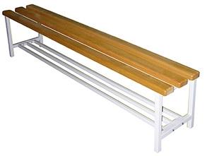 Скамейка для раздевалок без спинки 1,5м 002001