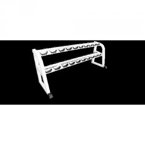 Стойка для хранения 10 пар проф. гантелей MB 1.16 серый MB Barbell