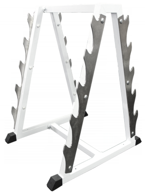 Стойка для хранения грифов (на 10 позиций) MB 1.17 серый MB Barbell