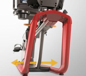 Сдвоенные стойки рамы обеспечат максимальную устойчивость тренажера
