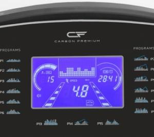 Голубой многофункциональный LCD-дисплей диагональю 7 дюймов (18 см.) с профилем тренировки