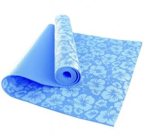Коврик для йоги SVYP-030 голубой спираль