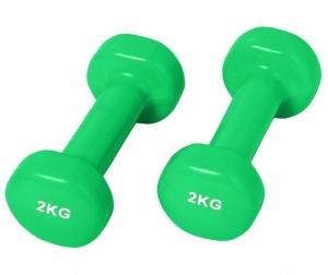Гантели виниловые 2кг SVFP202-2-зеленый Svarog