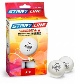 Мячи Start line Standart 2 звезды (6шт мячей в упаковке) 8332 Start Line