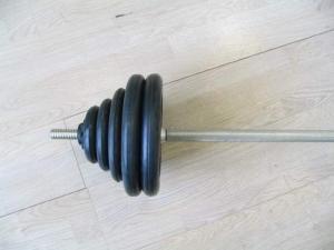 Штанга разборная, черная ф26мм, 90 кг MB-B26-90-1800 MB Barbell