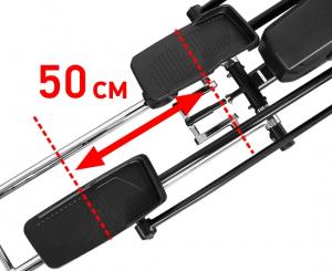 Длина шага 50 см