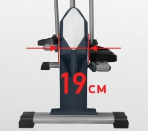 Расстояние между педалями (Q-Фактор S.Q.F.) 19 см.