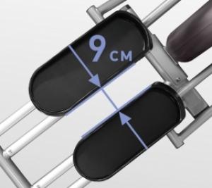 Расстояние между педалями 9 см