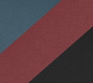 Варианты цвета обивки: obsidian black (основной), clay red, slate blue