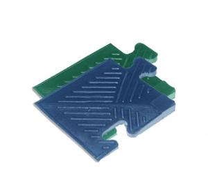Уголок резиновый для бордюра, 12мм MB-MatB-Cor12 синий MB Barbell