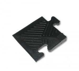 Уголок резиновый для бордюра, 12мм MB-MatB-Cor12 черный MB Barbell