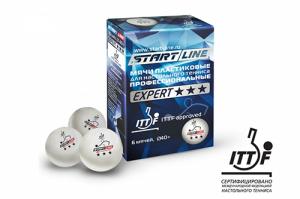 Мячи Start line Expert 3 звезды (6шт мячей в упаковке) 8335 Start Line