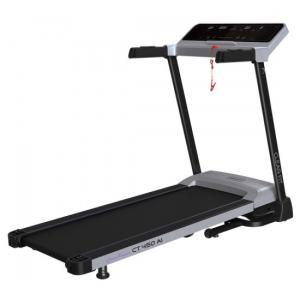 Показания дисплея: пройденное расстояние, расход калорий, текущая скорость, угол наклона, измерение пульса