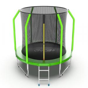 Батут 6 футов с внутренней сеткой Cosmo 6ft Green Evo Jump