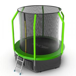 Батут 6 футов с внутренней сеткой и нижней сеткой Cosmo 6ft Green + LN Evo Jump