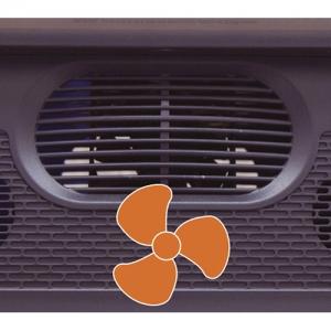 Встроенный вентилятор для большего комфорта