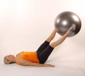 Гимнастический мяч 55см 97402FL красный Flexter