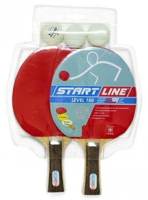 Набор 2 Ракетки Level 100, 3 Мяча Club Select 61-200 Start Line