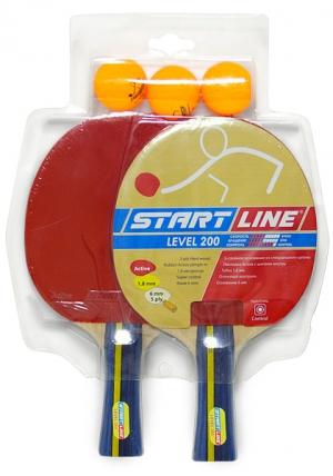 Набор 2 Ракетки Level 200, 3 Мяча Club Select 61-300 Start Line