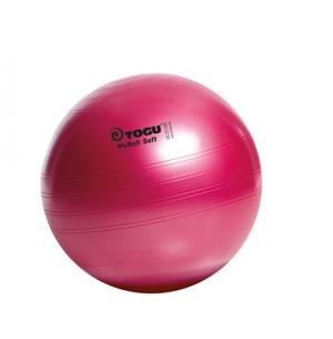 Гимнастический мяч 65см My Ball Soft красный перл TOGU