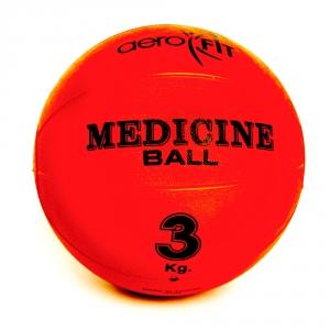 Медицинский мяч 3кг FT-MB-3K-V красный Aerofit
